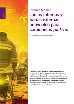 Jaulas internas y barras externas antivuelco para camionetas pick-up