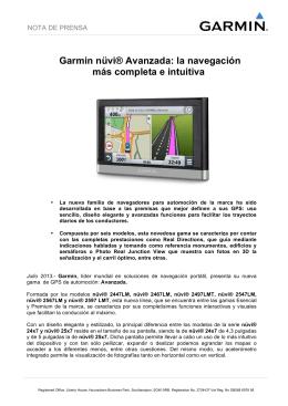Garmin nüvi® Avanzada: la navegación más completa e intuitiva