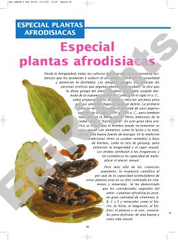 Especial plantas afrodisiacas