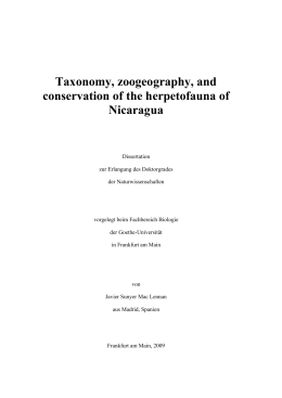 New Country and Departmental records of Herpetofauna