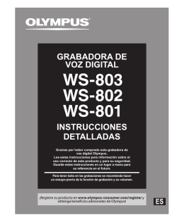 INSTRUCCIONES DETALLADAS GRABADORA DE VOZ