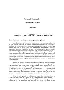 Carles Ramio-Teoría de la Organización y Administración Pública