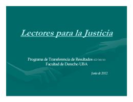 Proyecto Lectores para la Justicia