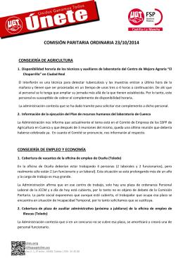 Acceso a la Hoja Informativa - FSP UGT Castilla