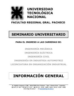 seminario universitario - LOI - Universidad Tecnológica Nacional