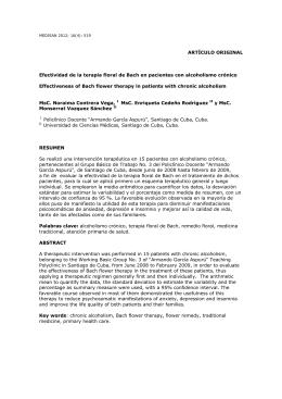 Efectividad de la terapia floral de Bach en pacientes con