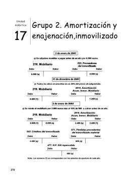 Grupo 2. Amortización y enajenación,inmovilizado