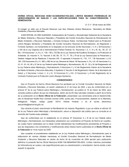NORMA OFICIAL MEXICANA NOM-138-SEMARNAT/SS