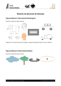 Relación de ejercicios de Inkscape