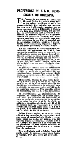 PROFESORES DE E.G.B.: DEMO