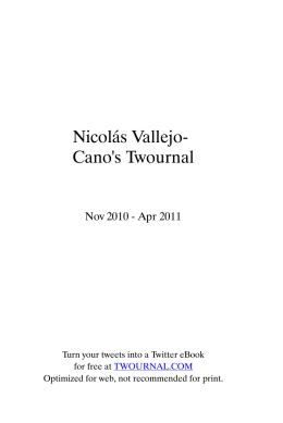 Nicolás Vallejo- Cano`s Twournal