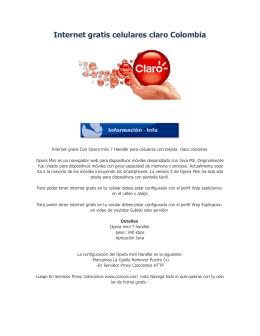Internet gratis celulares claro Colombia