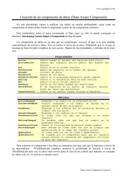 Creación de un componente de datos (Data