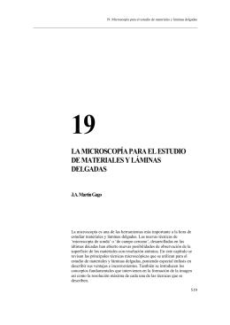 19 la microscopía para el estudio de materiales y láminas delgadas