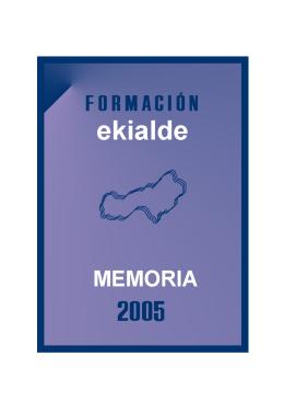 Memoria de formación del año 2005 ( pdf , 352 KB)