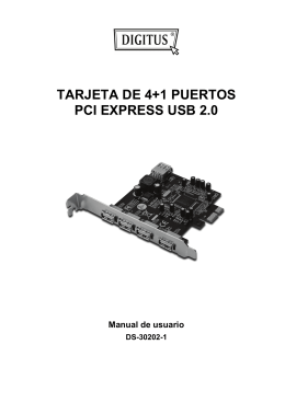 TARJETA DE 4+1 PUERTOS PCI EXPRESS USB 2.0