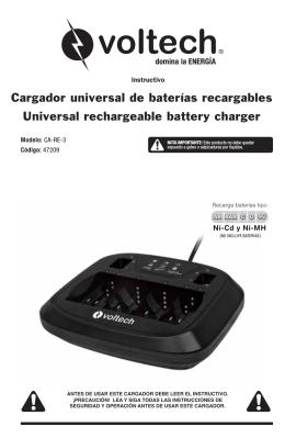 Cargador universal de baterías recargables Universal