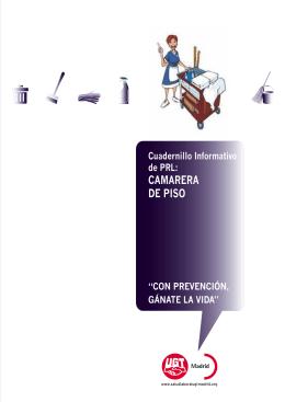 CAMARERA DE PISO - Salud Laboral UGT Madrid