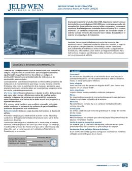 INSTRUCCIONES DE INSTALACIÓN para Ventanas - Jeld-Wen