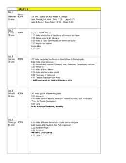 Itinerario 2015