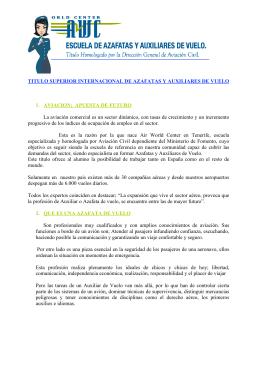 TITULO SUPERIOR INTERNACIONAL DE AZAFATAS Y