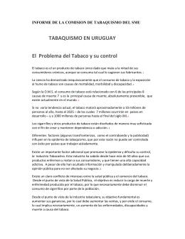 TABAQUISMO EN URUGUAY El Problema del Tabaco y su control