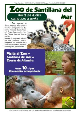 Zoo de Santillana del Mar - Albergue Paradiso en Cantabria