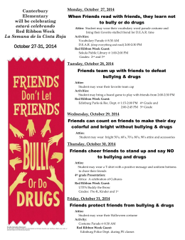 October 27-31, 2014 - Canterbury Elementary