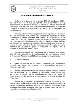 ILUSTRÍSIMO AYUNTAMIENTO BOLLULLOS PAR DEL CONDADO
