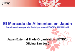 El Mercado de Alimentos en Japón