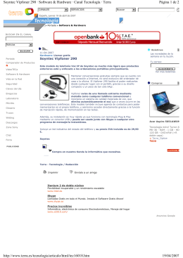 Página 1 de 2 Soyntec Vipfoner 290 ‡ Software & Hardware ‡ Canal