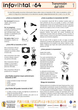 Infovihtal_esp_64 - Grupo de Trabajo sobre Tratamientos del VIH