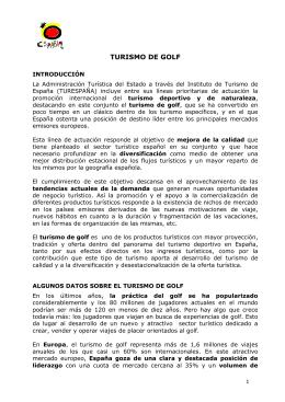 informe - Real Federación Española de Golf