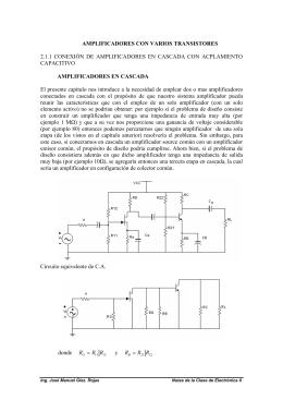 Conexión en cascada y acoplamientos capacitivo, inductivo y directo