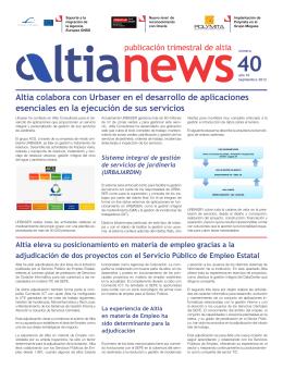Altia colabora con Urbaser en el desarrollo de aplicaciones