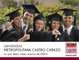 METROPOLITANA CASTRO CARAZO - Universidad Metropolitana