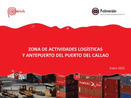 zona de actividades logísticas y antepuerto del puerto del callao