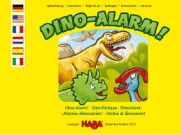 Dino-Alarm! · Dino-Panique · Dinoalarm! ¡Alarma: dinosaurios