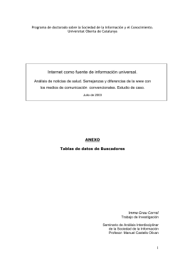Programa de doctorado sobre la Sociedad de la Información y el