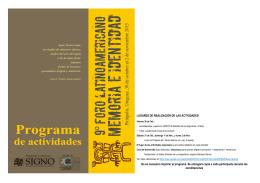 LUGARES DE REALIZACIÓN DE LAS ACTIVIDADES: No es