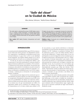 """""""Salir del clóset"""" en la Ciudad de México"""