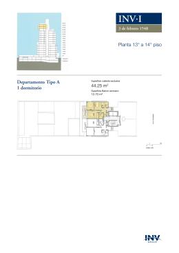 l Planta 13° a 14° piso