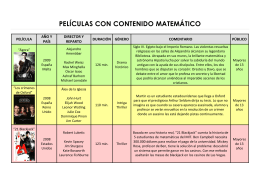 PELÍCULAS CON CONTENIDO MATEMÁTICO