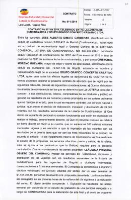 Contrato No. 011 de 2014-02