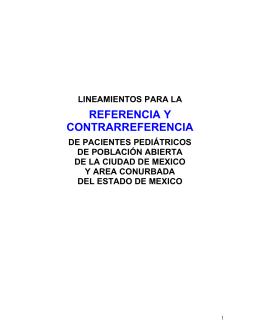 Lineamientos para la Referencia /Contrarreferencia