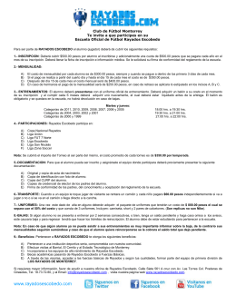 Descarga Requisitos 2015 - Escuela Oficial Rayados Escobedo