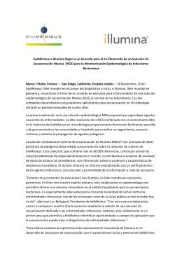Nota de prensa bioMérieux