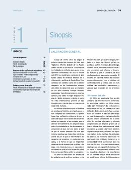 Sinopsis - Programa Estado de la Nación