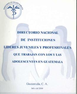 Directorio nacional de instituciones lideres juveniles y profesionales