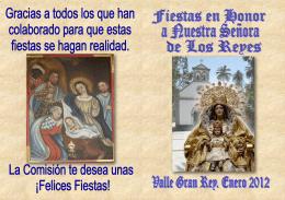 Programa de actos en español - VI Bajada de la Virgen de Los Reyes